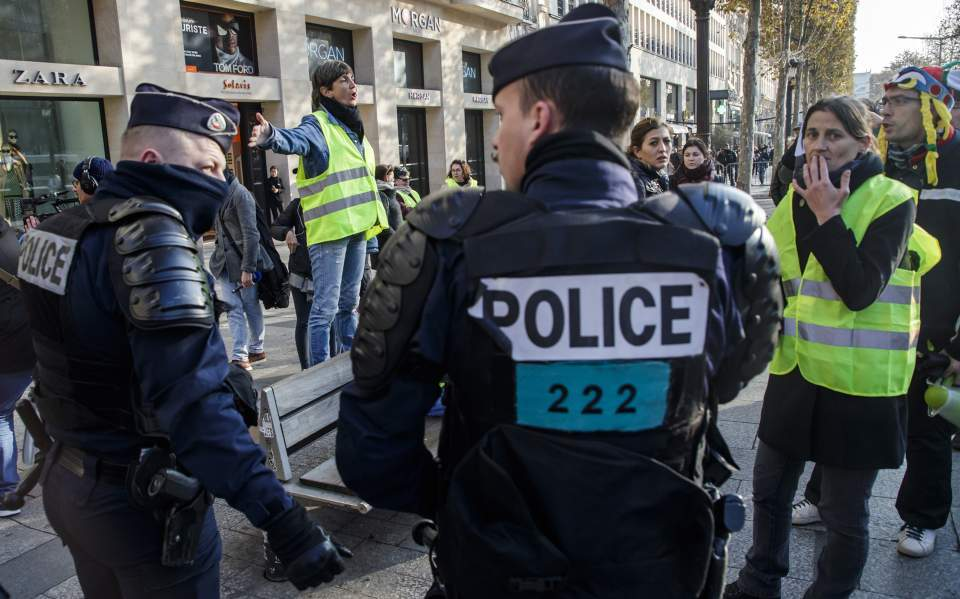 γαλλια αστυνομια κιτρινα