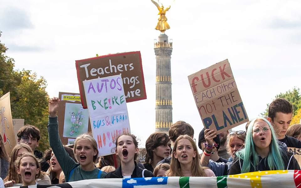 Περισσότεροι από 1 εκατομμύριο διαδηλωτές στους δρόμους της Γερμανίας για το κλίμα