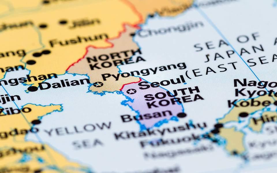 southkorea-northkorea-map