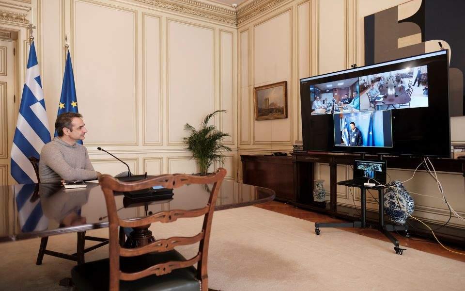 Ο πρωθυπουργός «ξεναγήθηκε» μέσω τηλεδιάσκεψης στην Πολιτική Προστασία