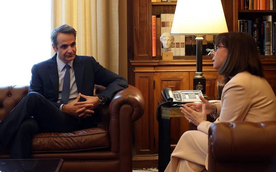 Συνάντηση Μητσοτάκη - Σακελλαροπούλου: Το κοινωνικό σύνολο επέδειξε εντυπωσιακή ωριμότητα