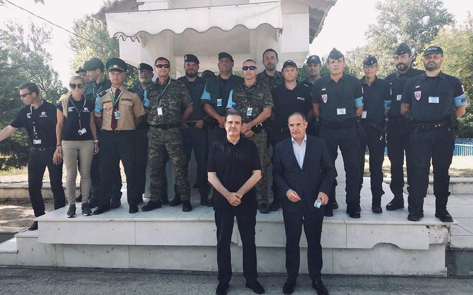 Επίσκεψη του Υπουργού Προστασίας του Πολίτη και του Εκτελεστικού Διευθυντή του Frontex στον Eβρο