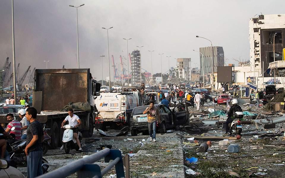 Εκρήξεις στη Βηρυτό: Τουλάχιστον 78 νεκροί και 4.000 τραυματίες - Ανατινάχθηκαν 2.750 τόνοι νιτρικού αμμωνίου
