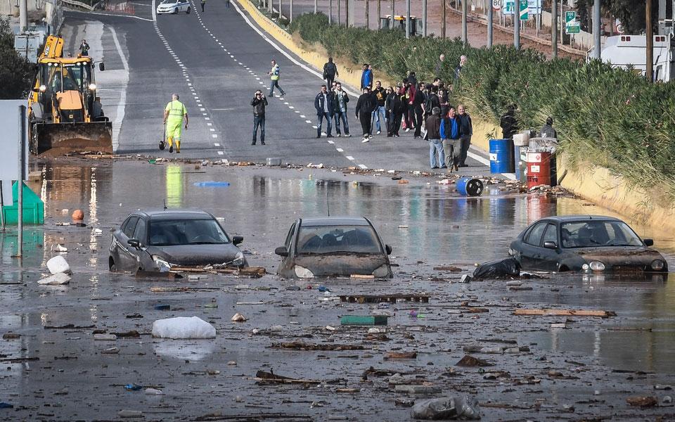 потоп афины