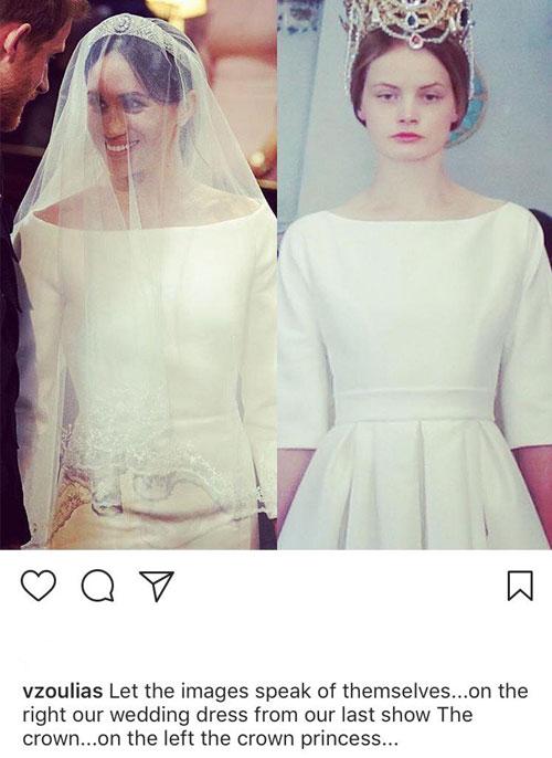 Who Designed Megan S Wedding Dress.The Greek Designer First Inspired By Megan Marc S Wedding Dress In