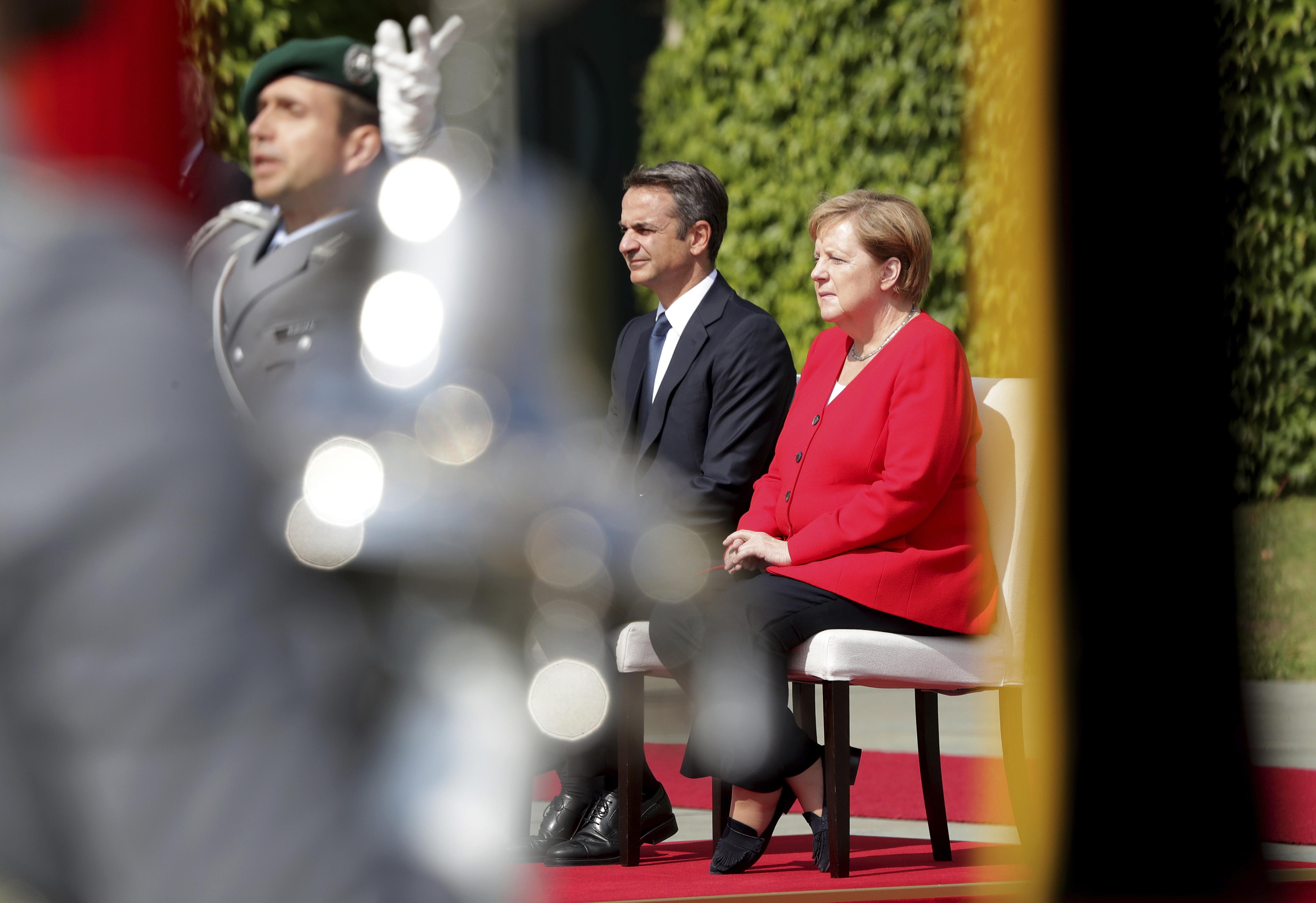 Angela Merkel Nude the warm welcome of mitsotakisangela merkel in 20